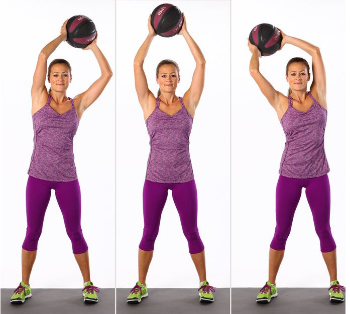 Overhead Circles With Medicine Ball | inKin Fitness Blog