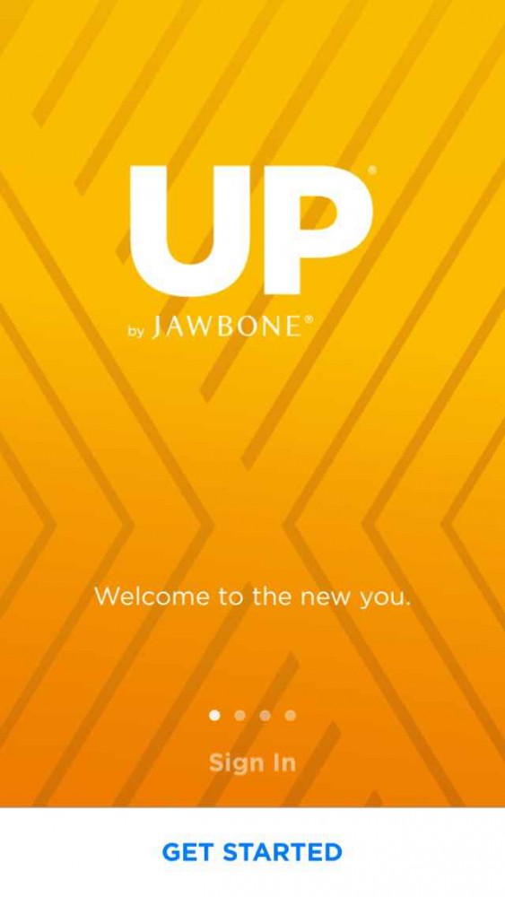 Jawbone app screen on inKin Social Fitness Platform Blog