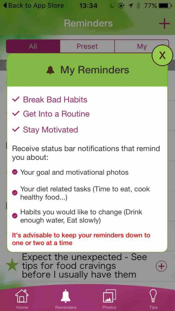 My Diet Coach app screen on inKin Social Fitness Platform Blog