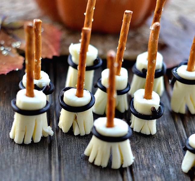 Healthy Halloween Recipes Witch's Brooms