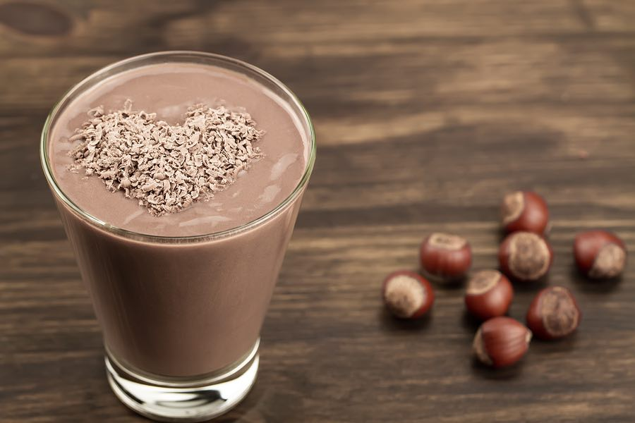 Healthy chocolate smoothie