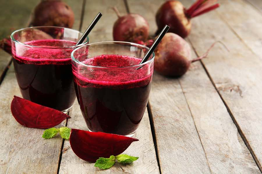 Healthy beet smoothie