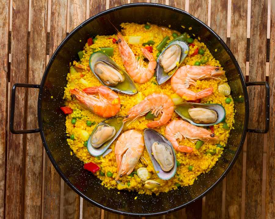 Paella with shrimp and mussels recipe on inKin Fitness and Health Blog