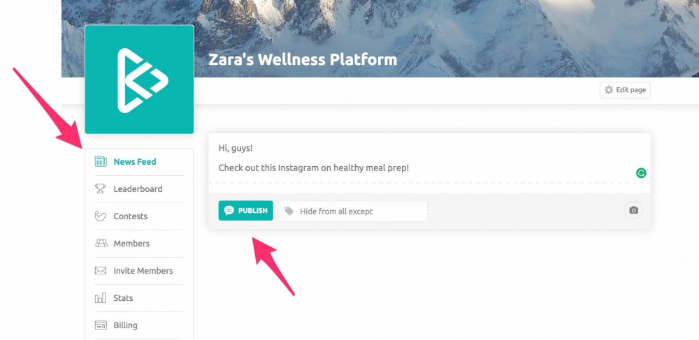 How to use tags on your wellness platform news feed 1