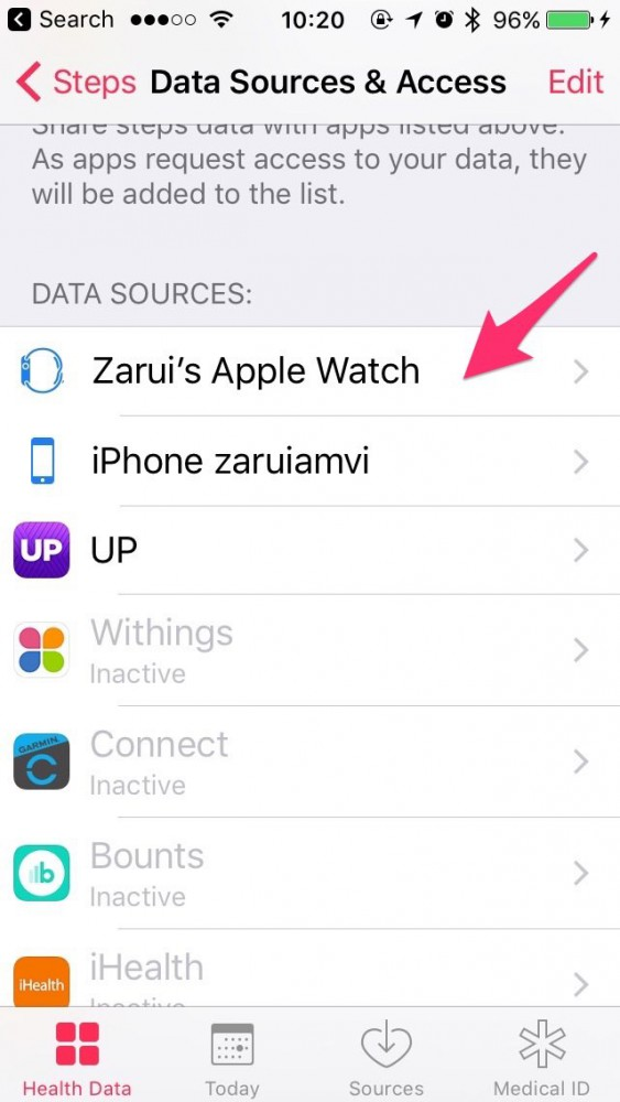 How to connect the Apple Watch and HealthKit app to inKin Social Fitness Platform. Step 3.4