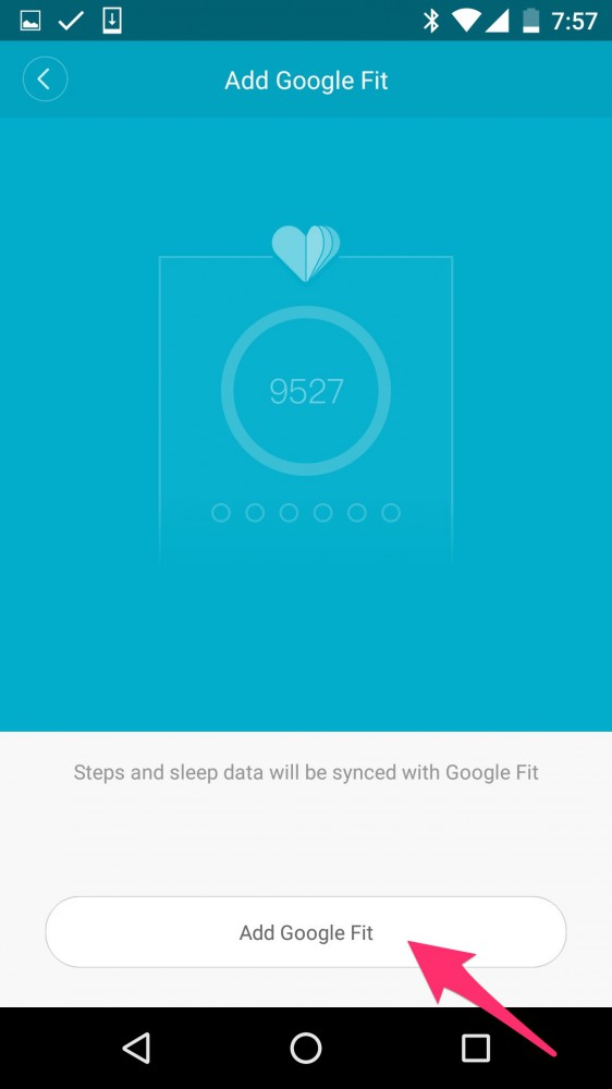 How To Connect Mi Band via Google Fit on inKin Social Fitness Platform. Step 7