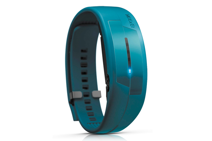Wearable Steps Distance Activity Burned Calories Sleep Analysis Pulse (HR) Epson Pulsense PS-100 Teal Band