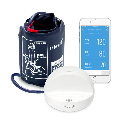 Wearable Pulse (HR) Blood Pressure iHealth Ease
